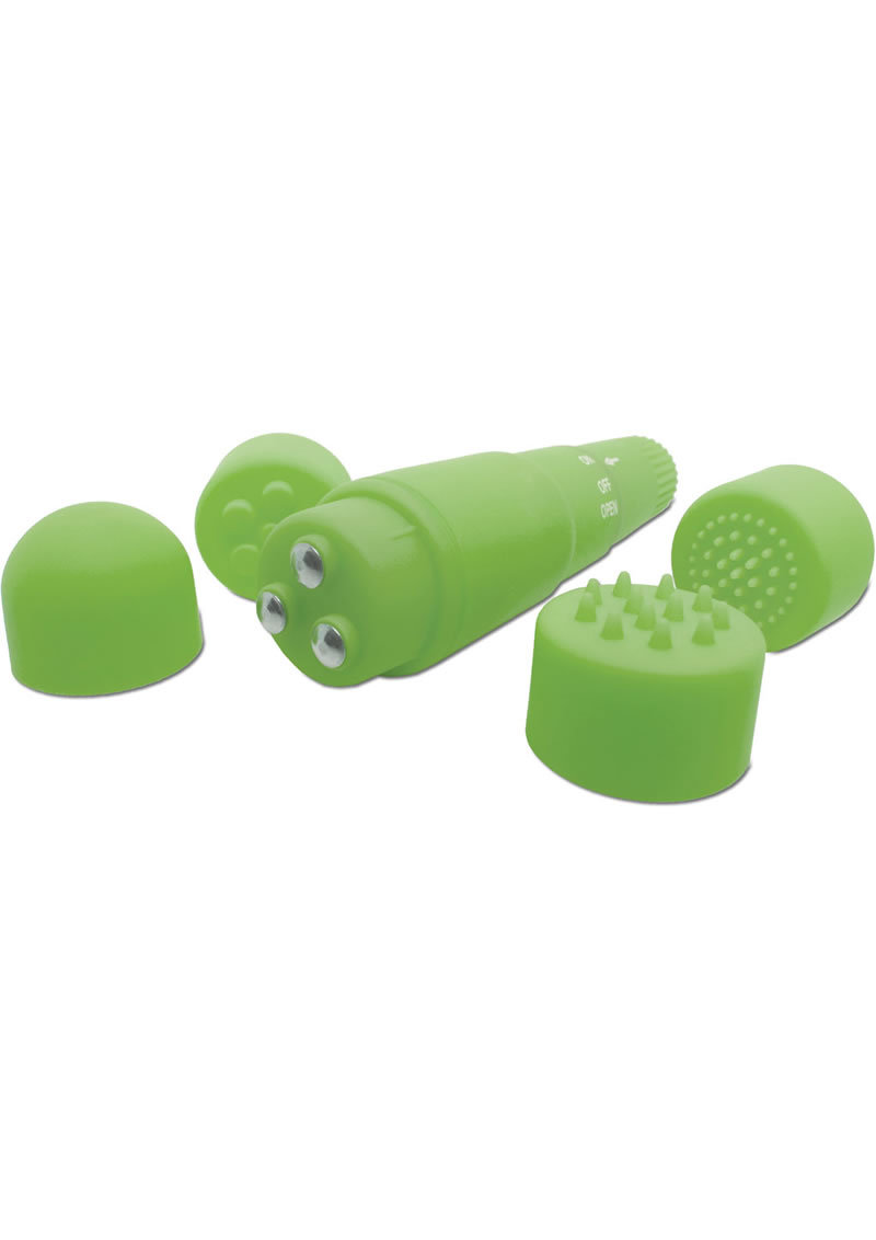 Neon Luv Touch Mini Mite Massager Waterproof 3.75 Inch Green