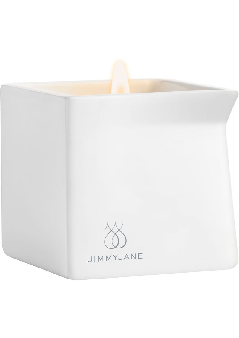 Jimmyjane Afterglow Natural Massage Oil Candle Pink Lotus 4.5 Ounce