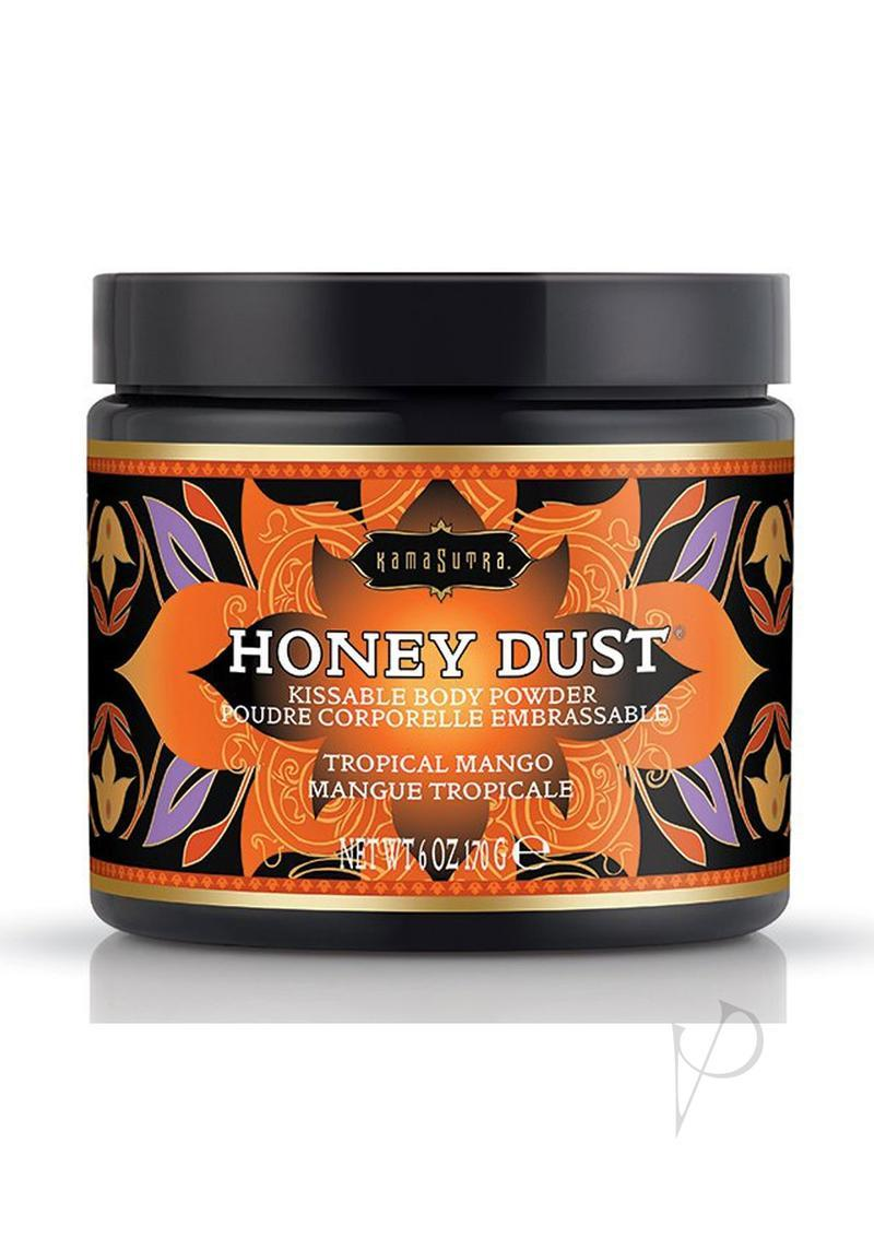 Honey Dust Kissable Body Powder Tropical Mango 6 Ounce